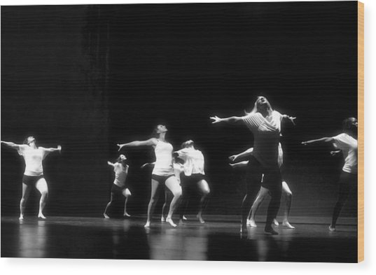 Contemporary Dancers Wood Print