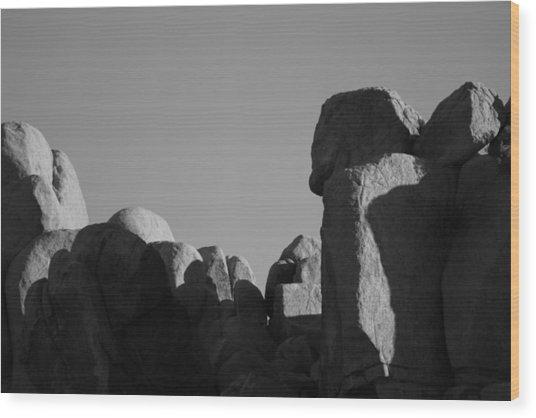 Contrast Stones  Wood Print by Carolina Liechtenstein