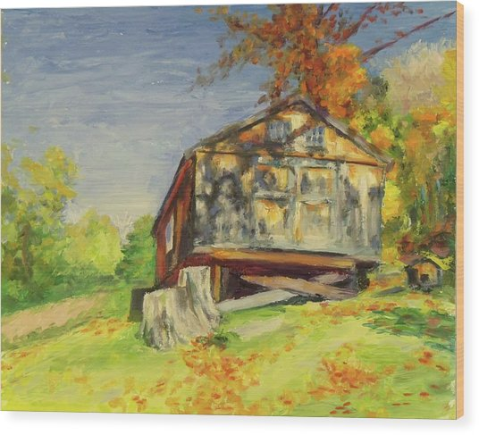 Converted Barn Orrs Mill Ny Wood Print