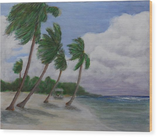Cool Breeze On The Brac Wood Print by Monte Lee Thornton