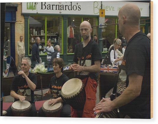 Cool Drummings 1 Wood Print by Peter Jenkins