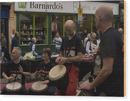 Cool Drummings 2 Wood Print by Peter Jenkins