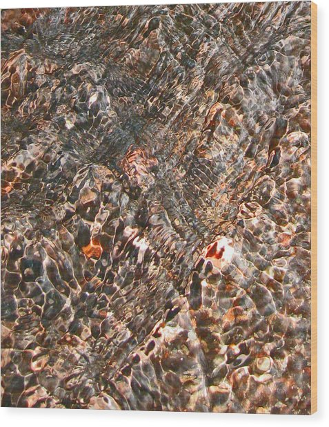 Copper Brook Abstract Wood Print by Seth Shotwell