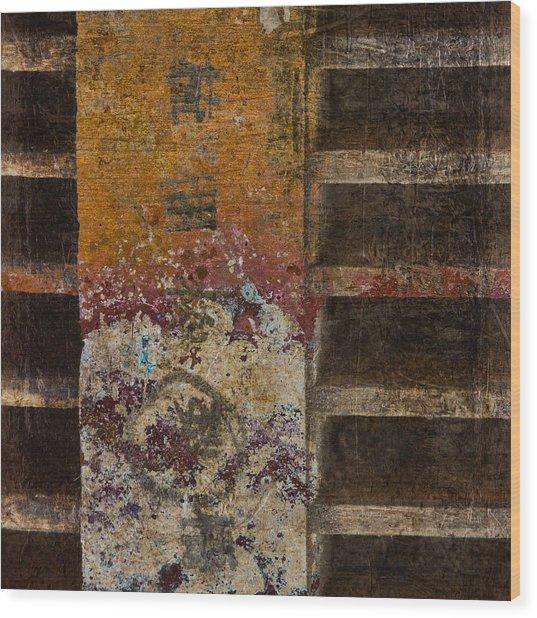 Copperwood Square Wood Print