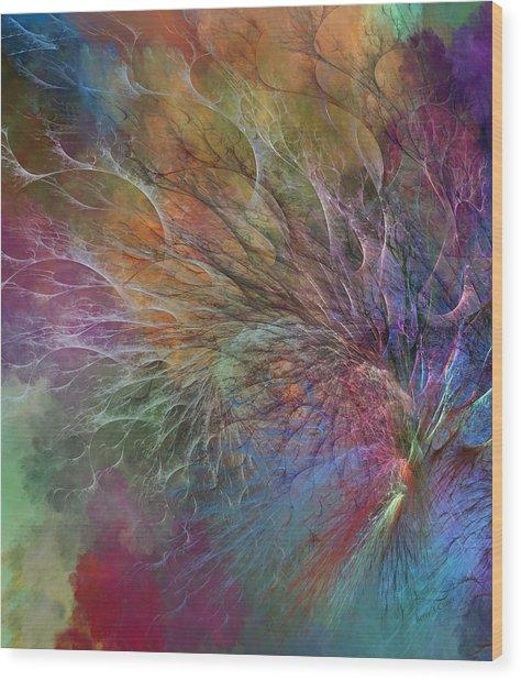 Coral Depths Wood Print