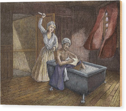 Corday And Marat Wood Print