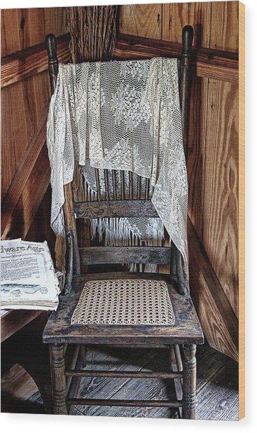 Corner Chair Wood Print