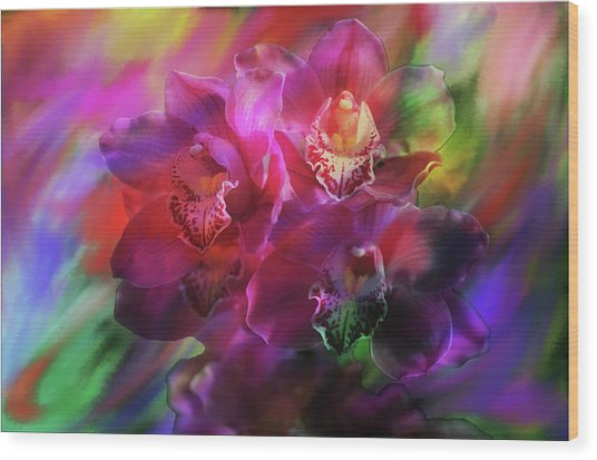 Coronation Orchids  Wood Print
