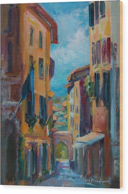 Cortona - Early Morning Wood Print by Jane Woodward
