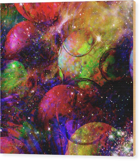 Cosmic Confusion Wood Print