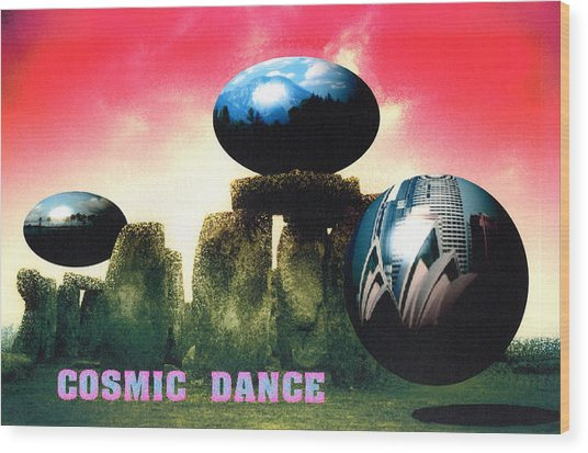Cosmic Dance Wood Print