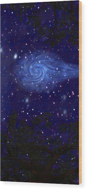 Cosmic Messenger Wood Print by Diana Morningstar
