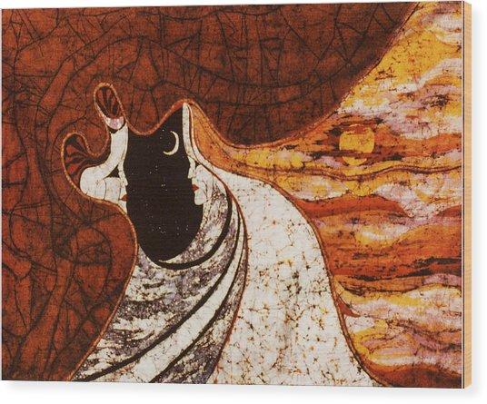 Cosmic Women Wood Print by Alexandra  Sanders