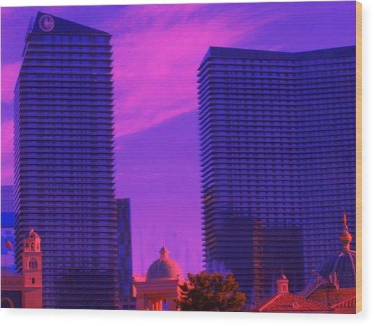 Cosmopolitan Sunset Wood Print