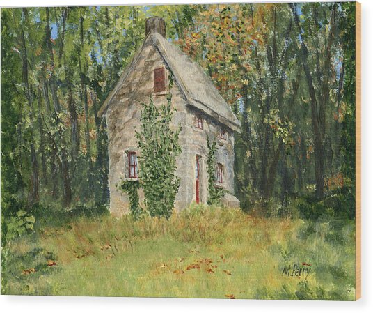 Cottage In The Woods At Fonthill Wood Print