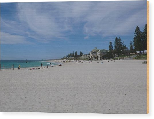Cottesloe Beach Perth Wood Print by Gregory Smith