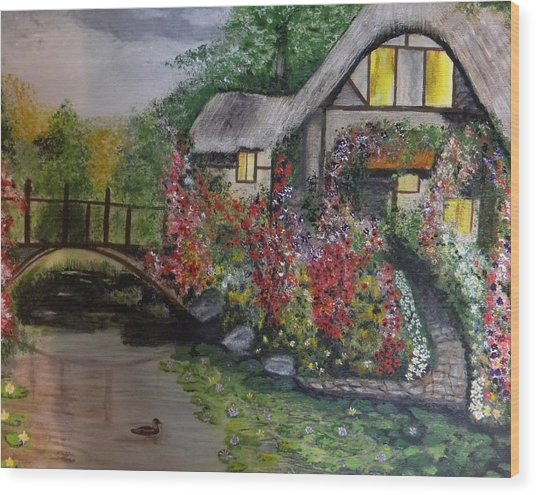 Country Cottage Retreat Wood Print