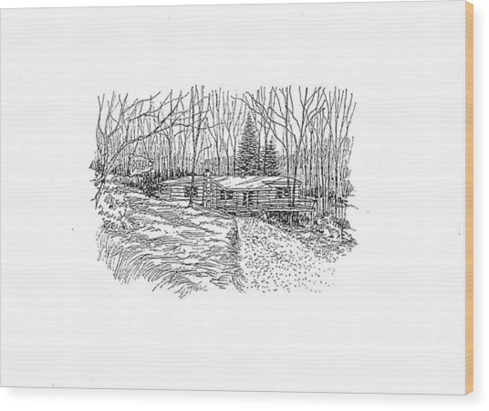 Country Scene 1 Wood Print