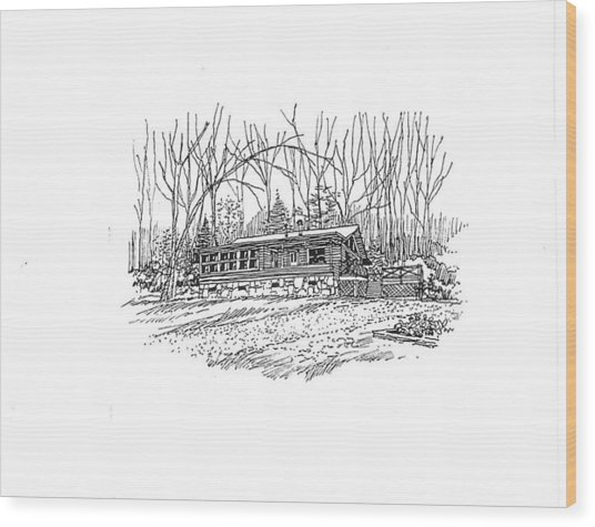 Country Scene 2 Wood Print