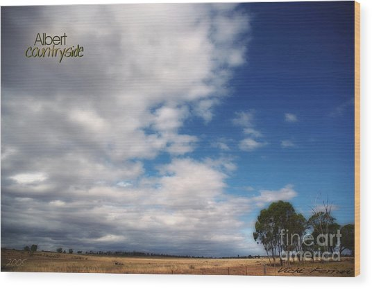 Wood Print featuring the photograph Country Sky by Vicki Ferrari