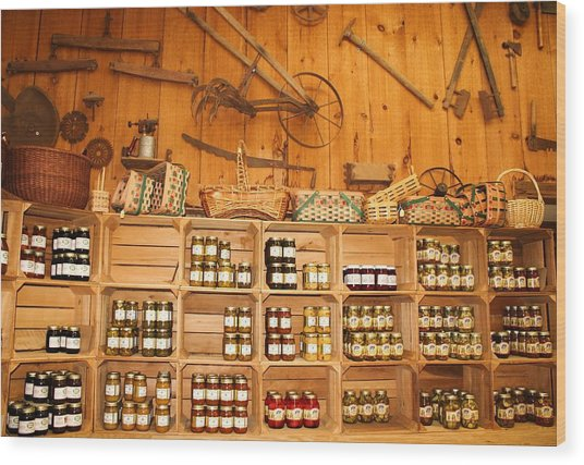 Country Store Wood Print by Paulette Thomas