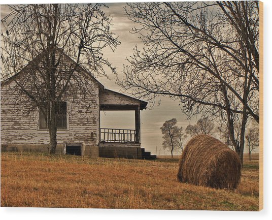 Country World Wood Print by Victoria Lawrence