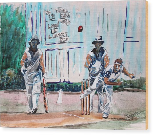 County Cricket Wood Print