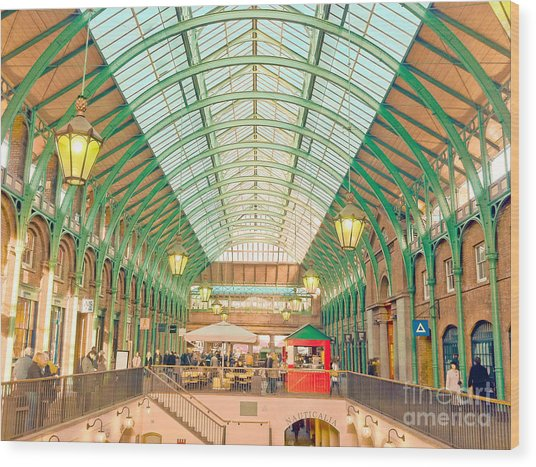 Covent Garden Wood Print by Damien Keating