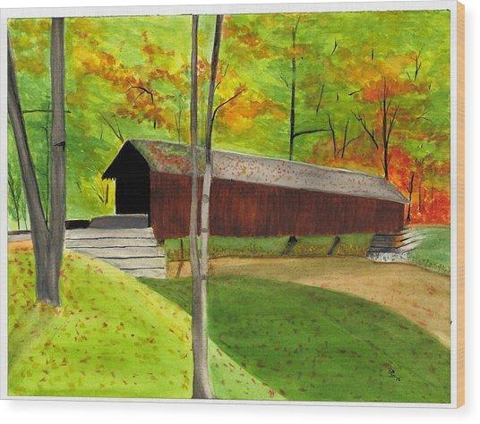 Covered Bridge 1 Wood Print