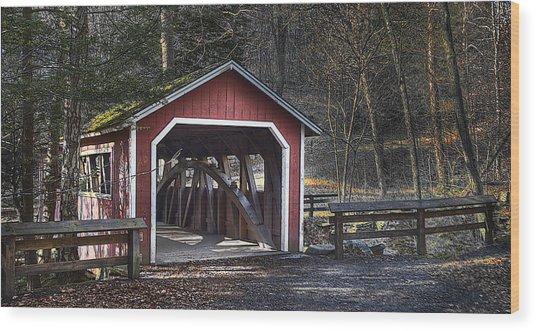 Covered Bridge Wood Print by Ercole Gaudioso
