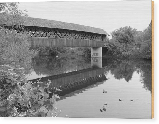 Covered Bridge Guelph Ontario Wood Print