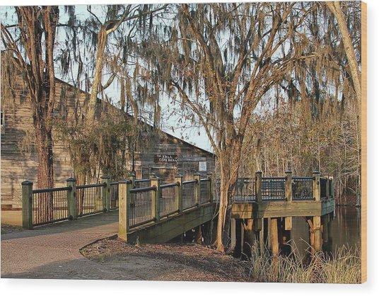 Cox Warehouse At Dusk Wood Print