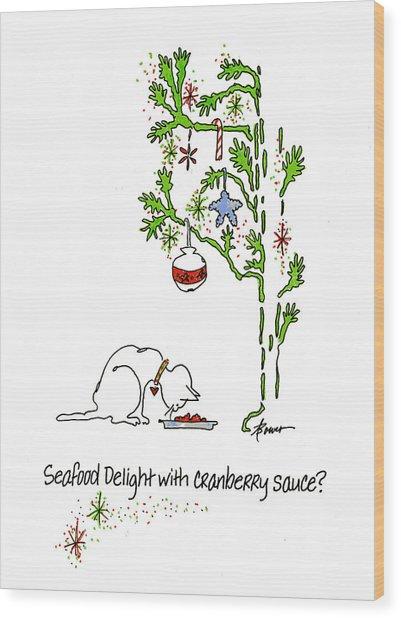 Cranberry Sauce Wood Print