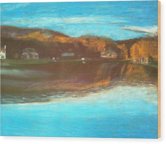 Crandon Lakes In November Wood Print by Samuel McMullen