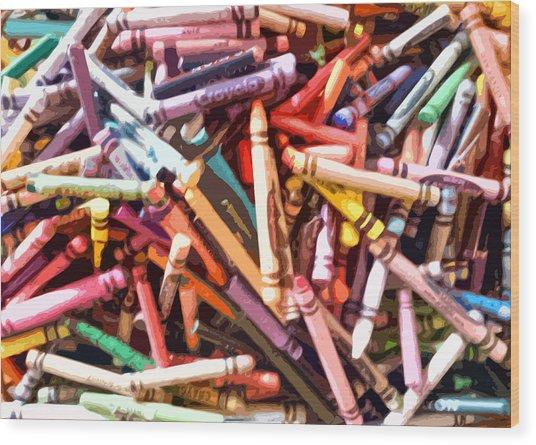 Crayola Wood Print by Bernadette Kazmarski