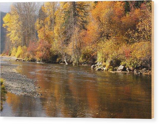 Creek Of Leavenworth Wood Print