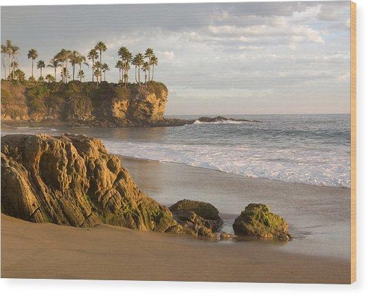 Crescent Bay Beach Laguna Wood Print