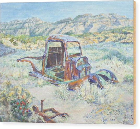 Crescent Canyon Relic Wood Print