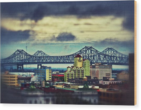 Crescent City Connection Wood Print