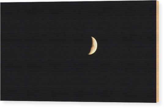 Crescent Moon Wood Print by Jessica Cruz