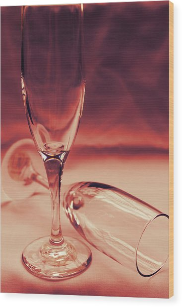 Crimson Glasses Wood Print