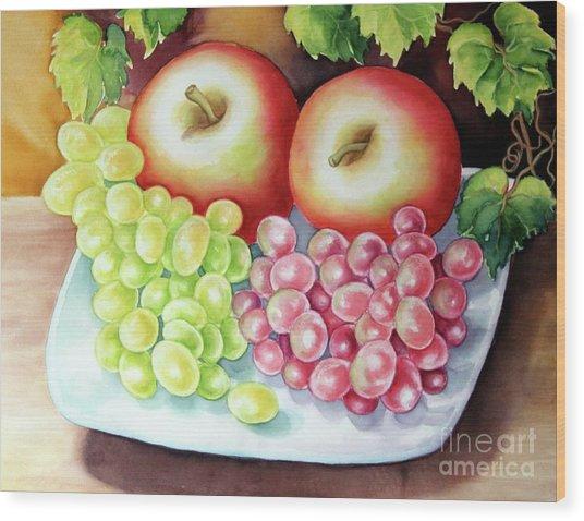 Crispy Fruits Wood Print