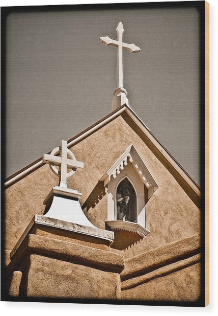 Cross Gable Wood Print