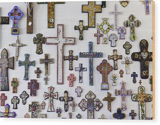 Crosses Wood Print