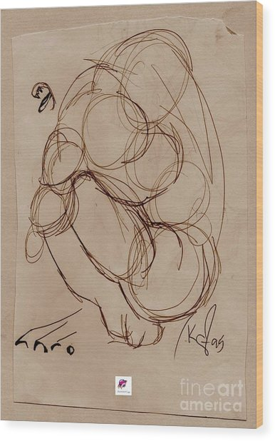 Crouching Tiger Wood Print by Carol Rashawnna Williams