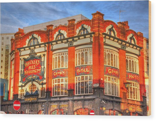 Crown Hotel Wood Print
