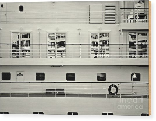 Cruise Reflections Wood Print by Dean Harte