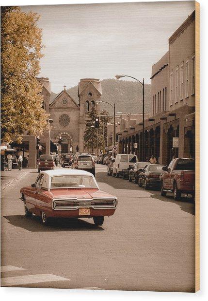 Santa Fe, New Mexico - Cruising Santa Fe Wood Print