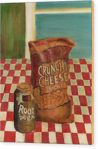 Crunchy Cheese - Summer Wood Print