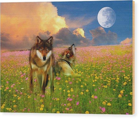 Cry At The Moon Wood Print